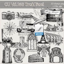 CU Vol 265 Travel Brush by Florju Designs