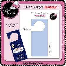 Door Hanger Sign TEMPLATE by Boop Printable Designs