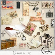 Elements CU - 297 travel memories by Cajoline-Scrap