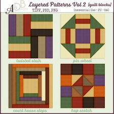 Layered Patterns Vol 1 & 2 Quilt Blocks DUO by ADB Designs