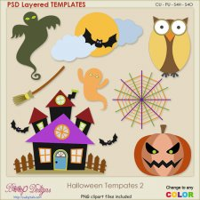Halloween Layered TEMPLATES 2