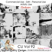 Grunge Overlays - CU Vol 92 {EXCLUSIVE} by MagicalReality Designs