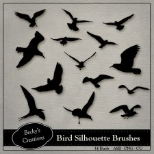 Bird Silhouette Brushes ABR - PNG by Beckys Creations