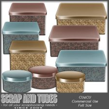 Metallic Vintage Boxes CU4CU by Scrap and Tubes