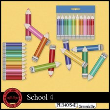 School 4 elements by Happy Scrap Art