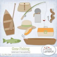 Gone Fishing Templates by Kim Cameron