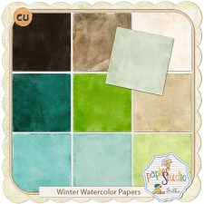 Winter Watercolor Papers EXCLUSIVE by PapierStudio Silke
