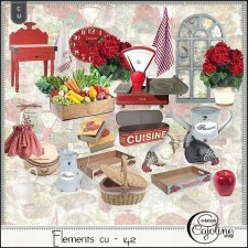 Elements CU - 142 Antique Kitchen by Cajoline-Scrap