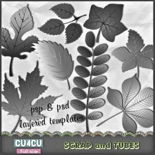 Leaves Templates CU4CU by Scrap and Tubes