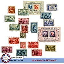 My Country U.S. Stamps by ADB Designs
