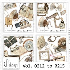 Vol. 0212 to 0215 - Vintage Mix by Doudou's Design