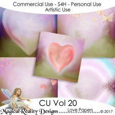 Love Papers - CU Vol 20 by MagicalReality Designs