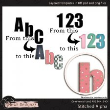 EXCLUSIVE Layered Stitched Alpha Templates by NewE Designz