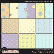 EXCLUSIVE Layered Paper Patterns Templates Set 35 by NewE Designz