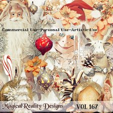 Vintage Christmas - CU Vol 167 by MagicalReality Designs