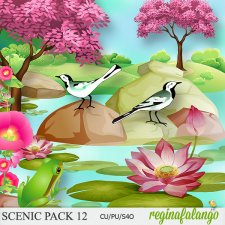 Scenic Spring Pack 12 by Reginafalango