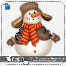 Snowman Layered Template by Peek a Boo Designs