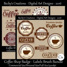 Coffee Shop Badge Label Brushes Bundle-FS-Cu-ABR-PNG-Beckys Creations