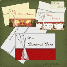 Action - Christmas Card I & II by Rose.li