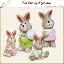 Fun Bunny Figurines by ADB Designs