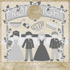Prom Night Layered Templates by Josy