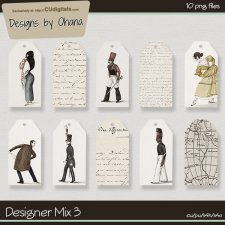 CU Mix 3 -Journal Tags - EXCLUSIVE Designs by Ohana