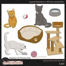 EXCLUSIVE Layered Cat Templates by NewE Designz