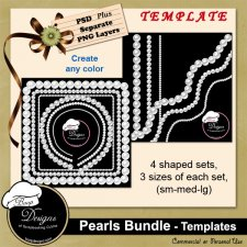 Pearls TEMPLATE BUNDLE by Boop