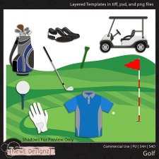 EXCLUSIVE Layered Golf Templates By NewE Designz