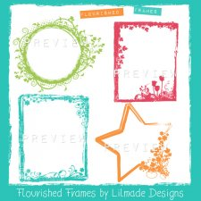 Flourished Frames Brushes Lilmade Designs