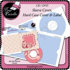 CD - DVD Sleeve and Hard Cover set with Label TEMPLATE