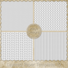 Layered Paper Templates 19 by Josy