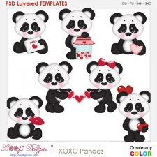 xoxo Pandas Layered Element Templates