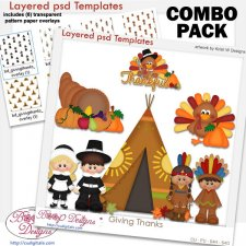 Giving Thanks Thanksgiving Layered Template COMBO Pack