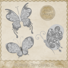 Butterfly Layered Templates 2 by Josy