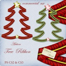 Action - Christmas Tree Ribbon by Rose.li