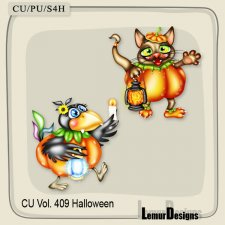 CU Vol 409 Halloween Animals by Lemur Designs