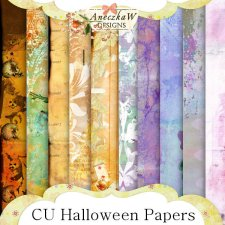 Halloween Papers by AneczkaW