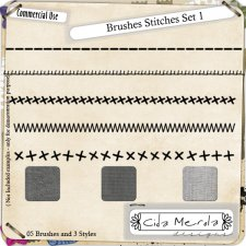 Brushes Stitches Set 1 by Cida Merola