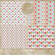 Christmas Cheer Paper Layered Templates by Josy
