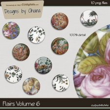 Flairs Vol 6 - Flower Garden - EXCLUSIVE Designs by Ohana