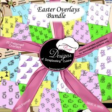 Easter Pattern Overlays BUNDLE by Boop Designs