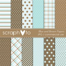 Blue and Brown Papers by Scraphoto Studio