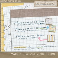 GRAB BAG - Make a List Vol 2
