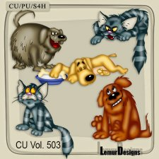 CU Vol 503 Dog and Cat by Lemur Designs