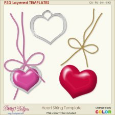 Heart String Layered TEMPLATE