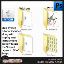 EXCLUSIVE PS Folder Preview Action by NewE Designz