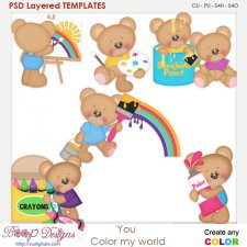 You Color My World Paint Layered Element Templates