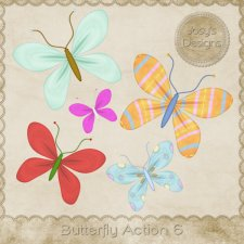 Butterfly Action 06 by Josy