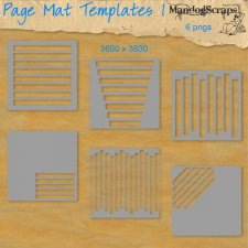 Page Mat Templates 1 by Mandog Scraps